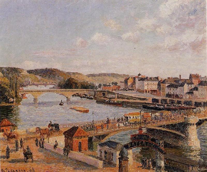 Послеполуденное солнце, Руан (1896). Камиль Писсарро