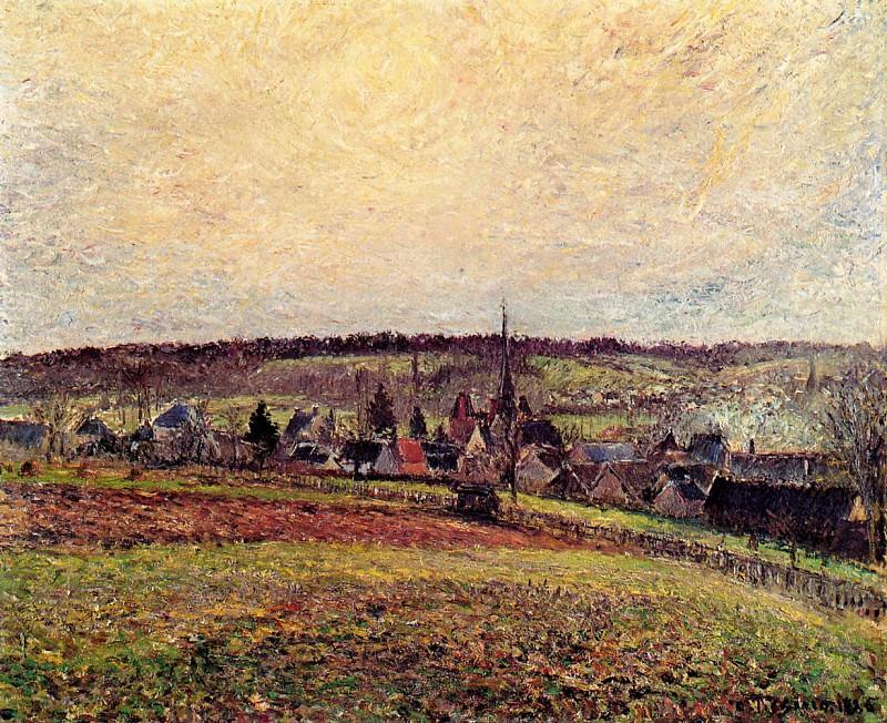 The Village of Eragny. (1885). Camille Pissarro