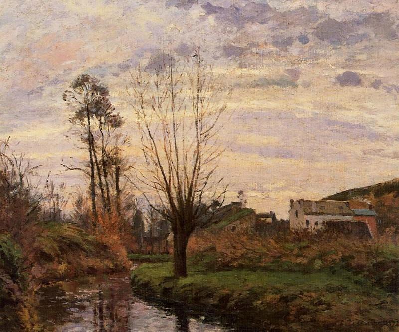 Пейзаж с речушкой. (1872). Камиль Писсарро