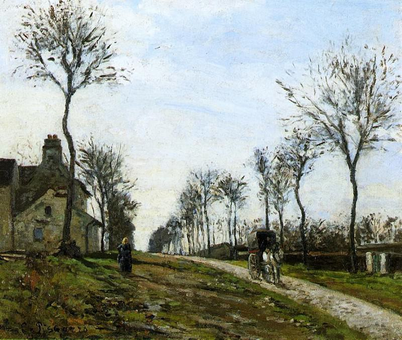 Дорога в Лувесьен (1870). Камиль Писсарро