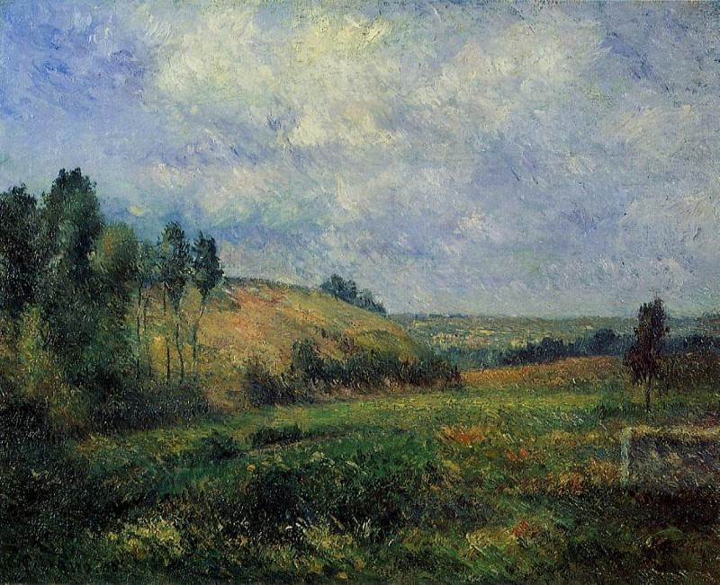 Landscape, near Pontoise. (1880). Camille Pissarro