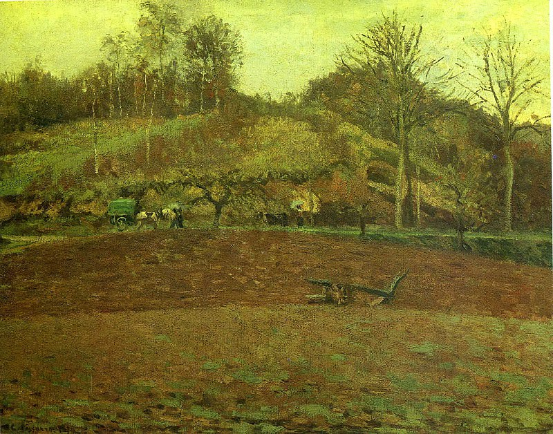 The Field. Camille Pissarro