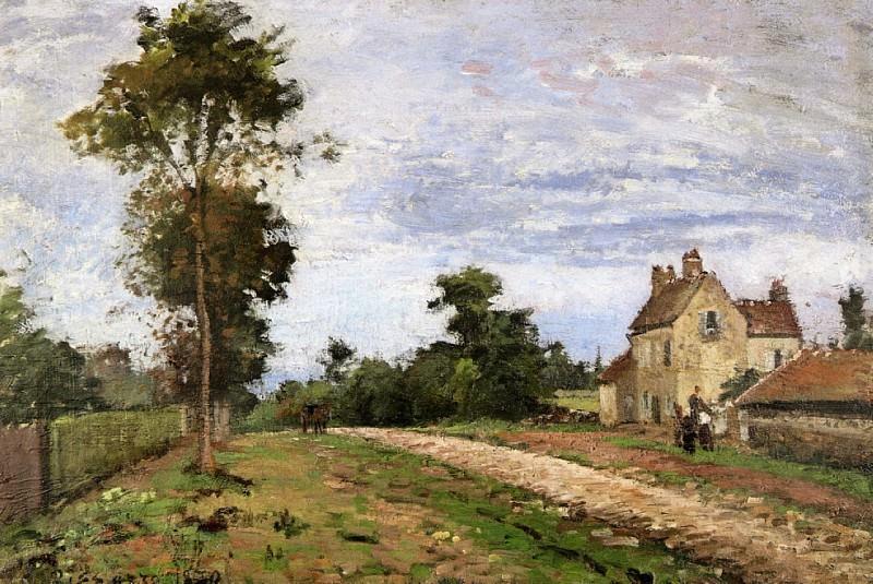 Дом месье Мюзи, Лувесьен (1870). Камиль Писсарро