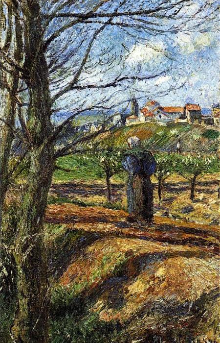 Вблизи Понтуаза (1877-79). Камиль Писсарро