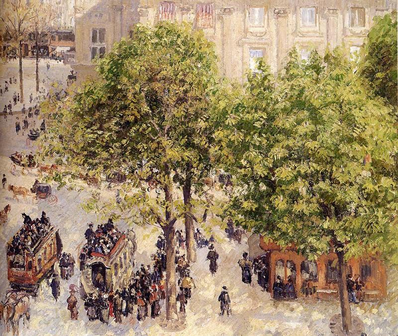 Place Du Theatre Francais. Camille Pissarro