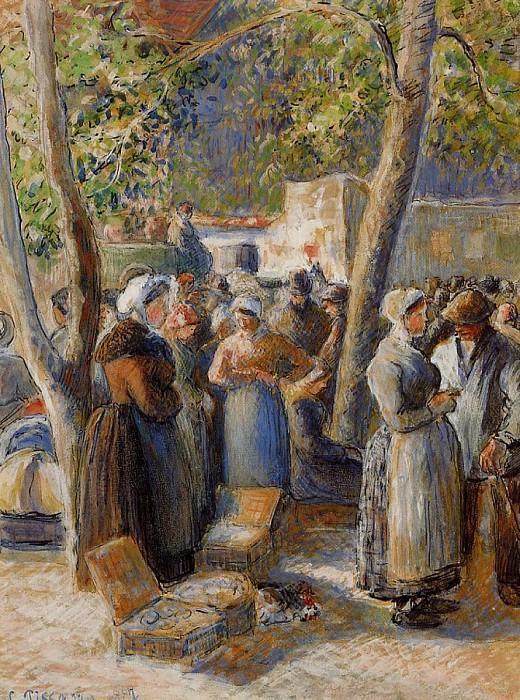 The Market in Gisors. (1887). Camille Pissarro