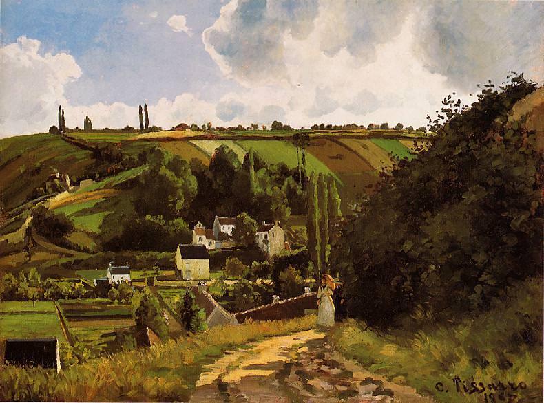 The Jallais Hills, Pontoise. 1867. Camille Pissarro