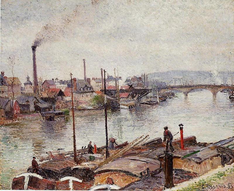The Port of Rouen 2. (1883). Camille Pissarro