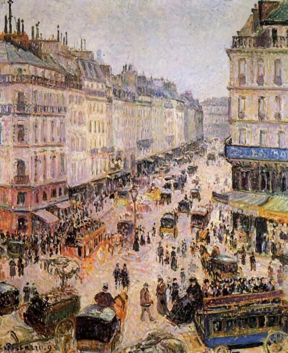Rue Saint-Lazare. (1893). Camille Pissarro