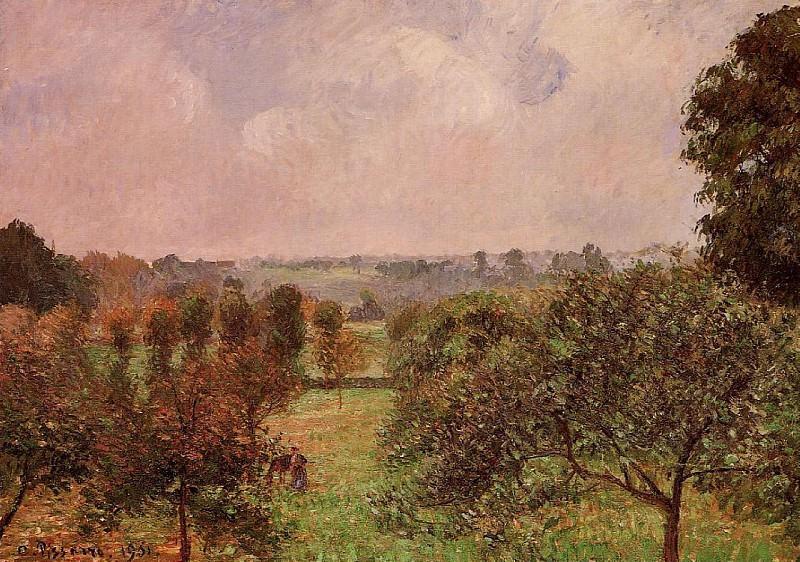 After the Rain, Autumn, Eragny. (1901). Camille Pissarro