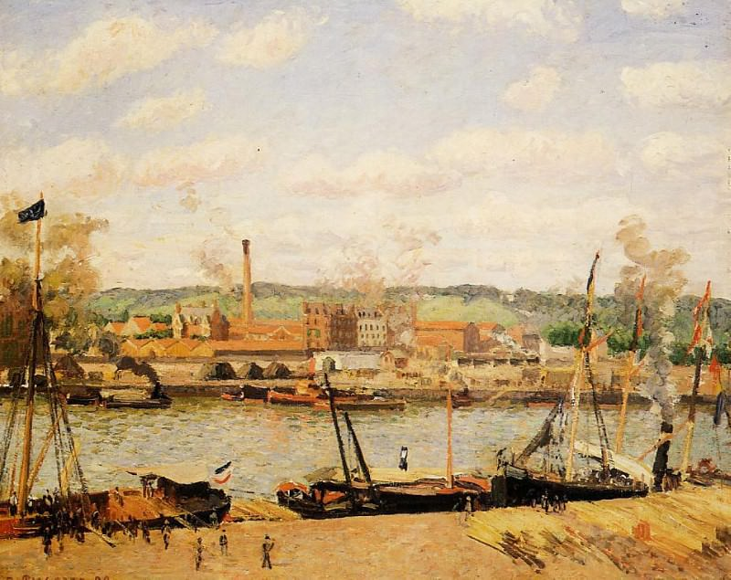 View of the Cotton Mill at Oissel, near Rouen. (1898). Camille Pissarro
