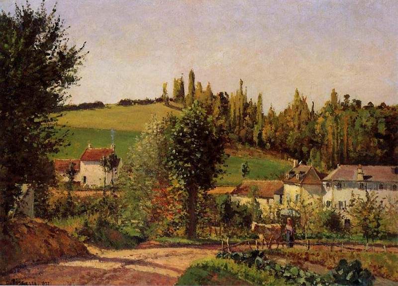 Path of lHermitage at Pontoise. (1875). Camille Pissarro