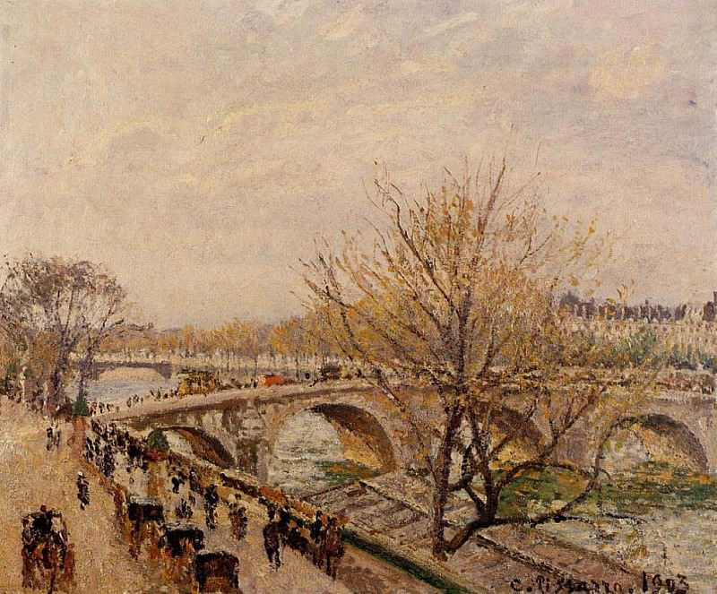 The Seine at Paris, Pont Royal. (1903). Camille Pissarro