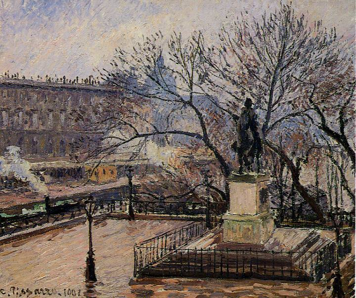 The Raised Tarrace of the Pont-Neuf and Statue of Henri IV. (1901). Camille Pissarro
