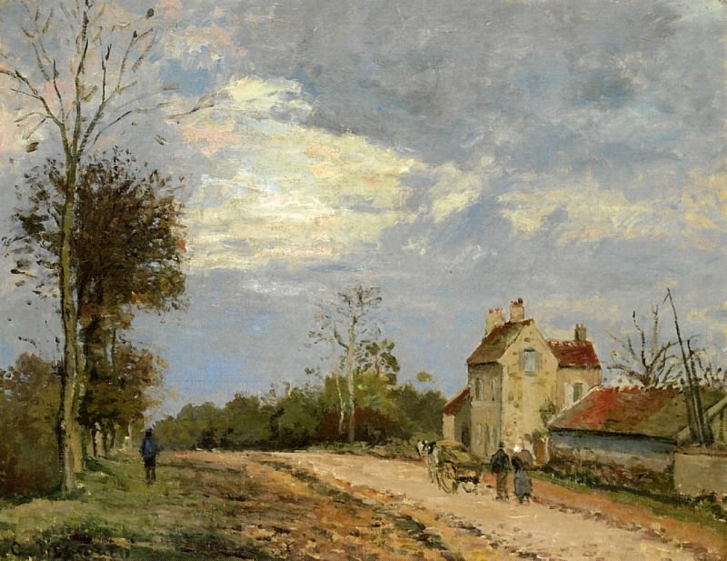 The House of Monsieur Musy, Route de Marly, Louveciennes. (1872). Camille Pissarro