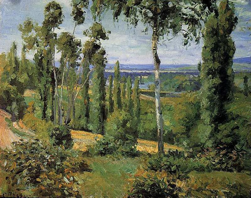 The Countryside in the Vicinity of Conflans Saint-Honorine. (1874). Camille Pissarro