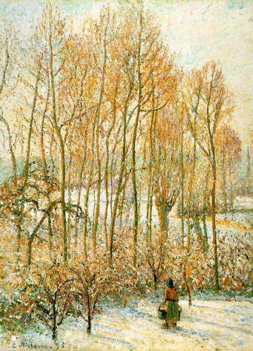 Morning, Sunshine Effect, Winter. (1895). Camille Pissarro