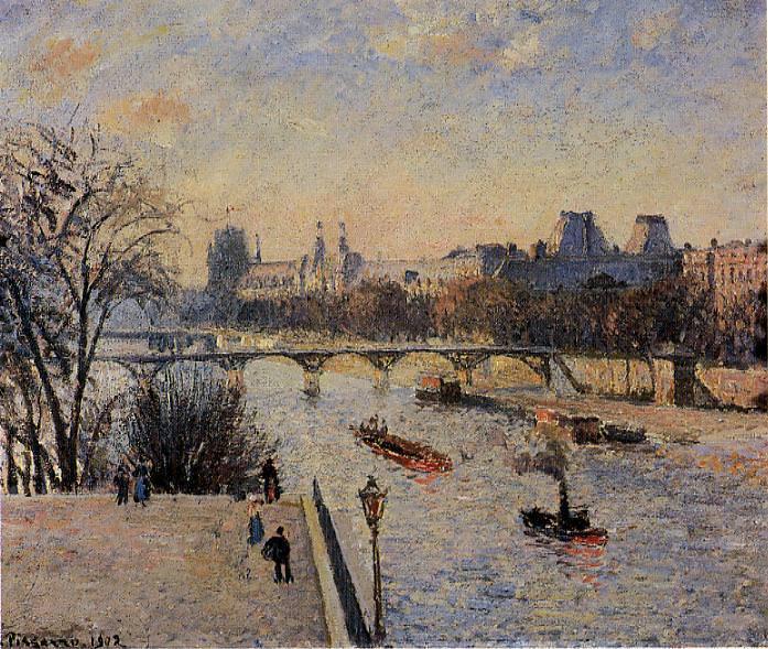 The Louvre. (1902). Camille Pissarro