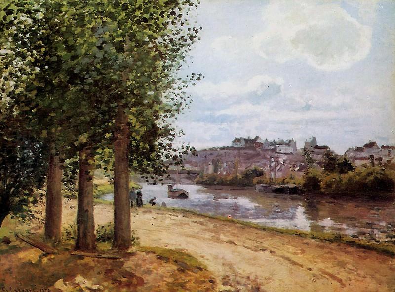 Pontoise banks of the Oise. Camille Pissarro