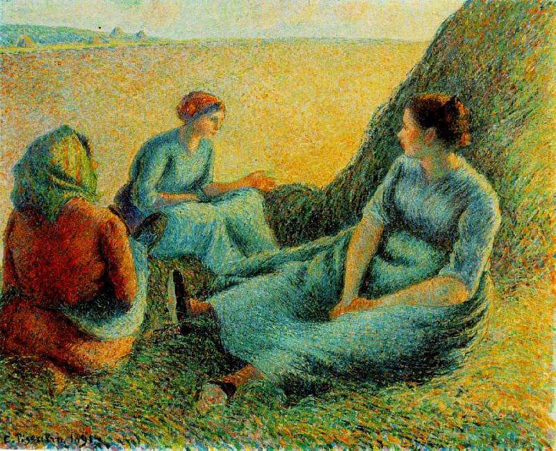 Haymakers Resting. (1891). Camille Pissarro