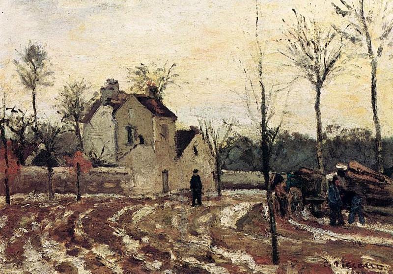 Thaw, Pontoise. (1872). Camille Pissarro