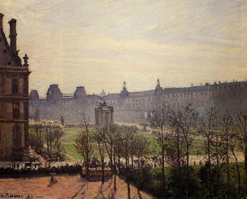 The Carrousel - Autumn, Morning. (1899). Камиль Писсарро