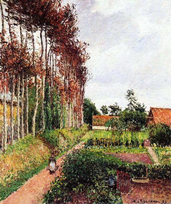 The Field by the Ango Inn, Varengeville. (1899). Camille Pissarro