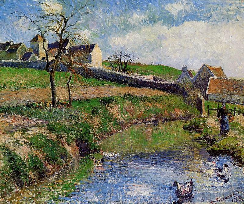 View of a Farm in Osny. (1883). Camille Pissarro