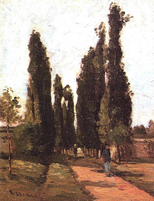 The Road. (1864). Camille Pissarro