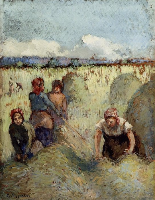 Заготовка сена (1895). Камиль Писсарро