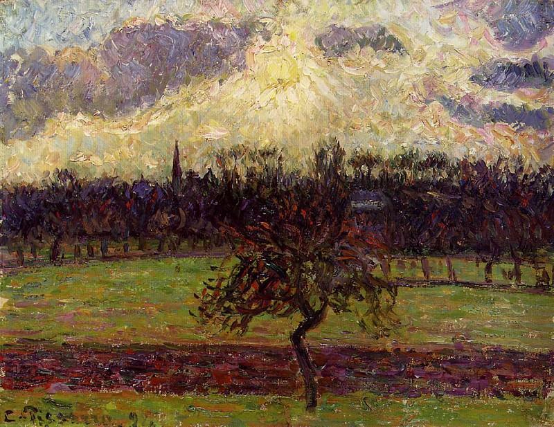 The Fields of Eragny, the Apple Tree. (1894). Camille Pissarro