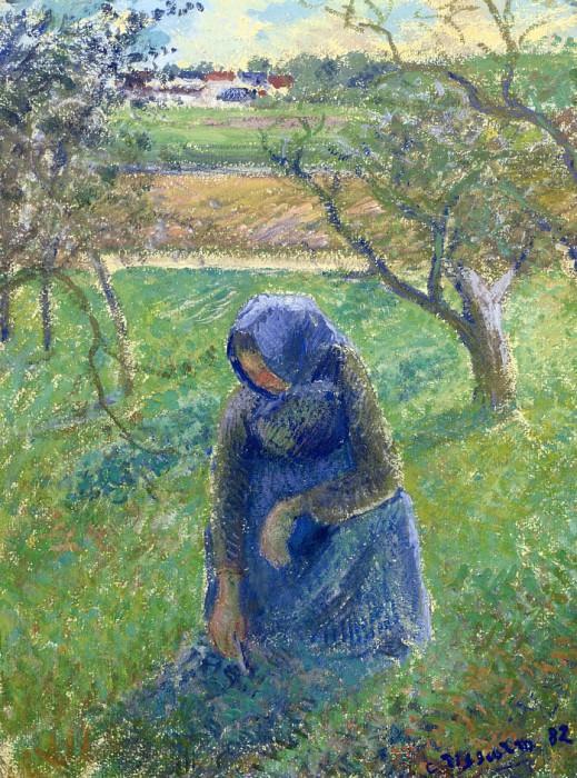 Собирание целебных трав (1882). Камиль Писсарро