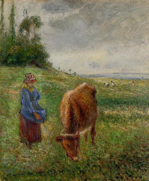 Пастушка. Понтуаз 1869. Камиль Писсарро