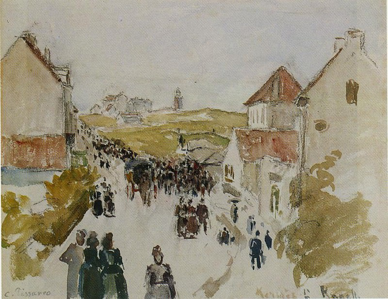 Feast Day in Knokke. (1891). Camille Pissarro
