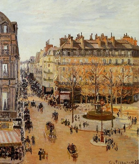 Rue Saint Honore - Sun Effect, Afternoon. (1898). Camille Pissarro