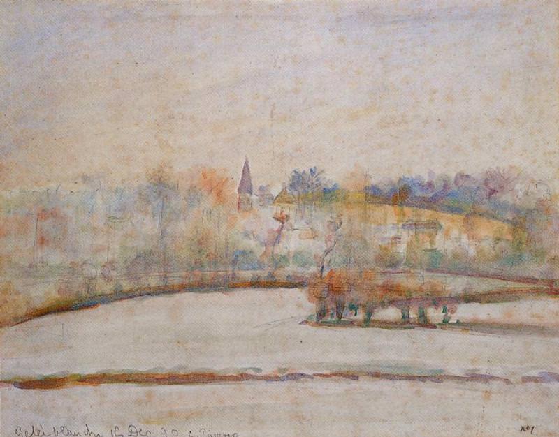 Сильный мороз (1890). Камиль Писсарро