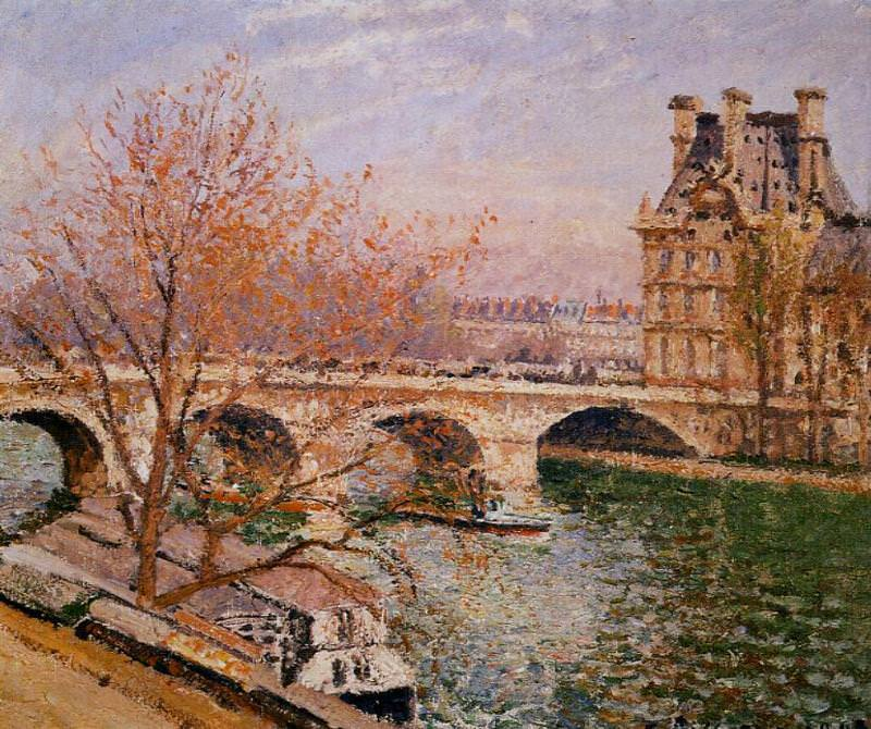 The Pont Royal and the Pavillion de Flore. (1903). Camille Pissarro