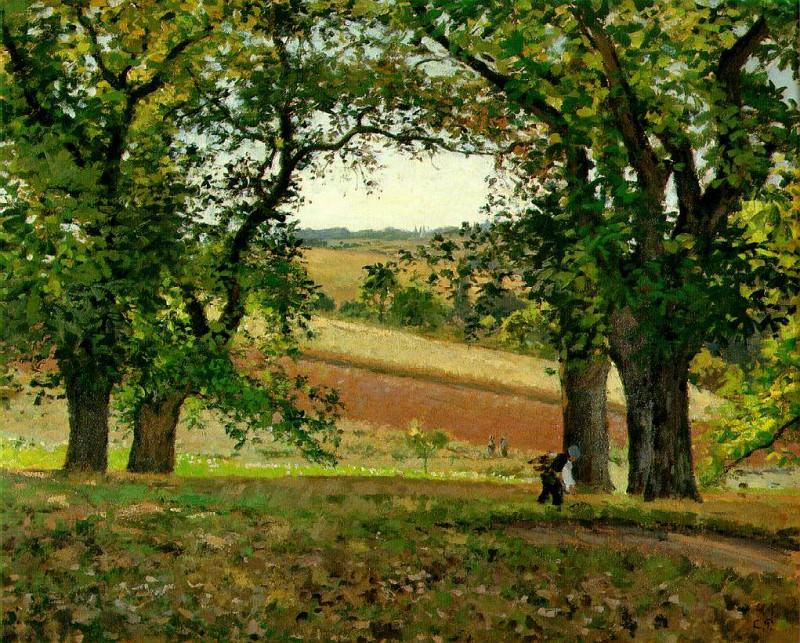 Les chataigniers a Osny, ca 1873, 65x81 cm, Private. Camille Pissarro
