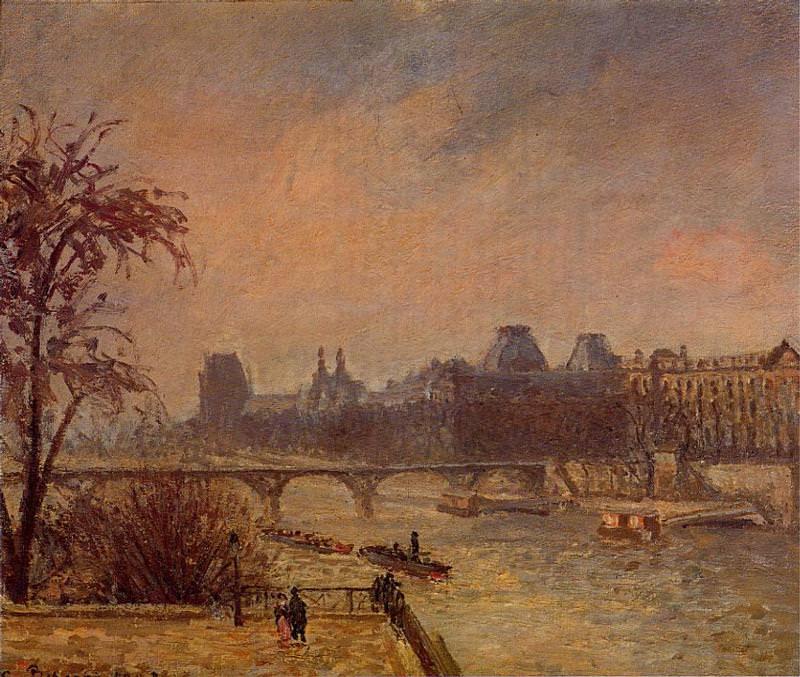 The Seine and the Louvre, Paris. (1903). Camille Pissarro
