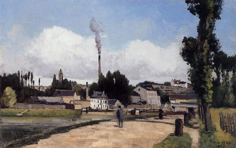 By the Oise at Pontoise. (1867). Camille Pissarro