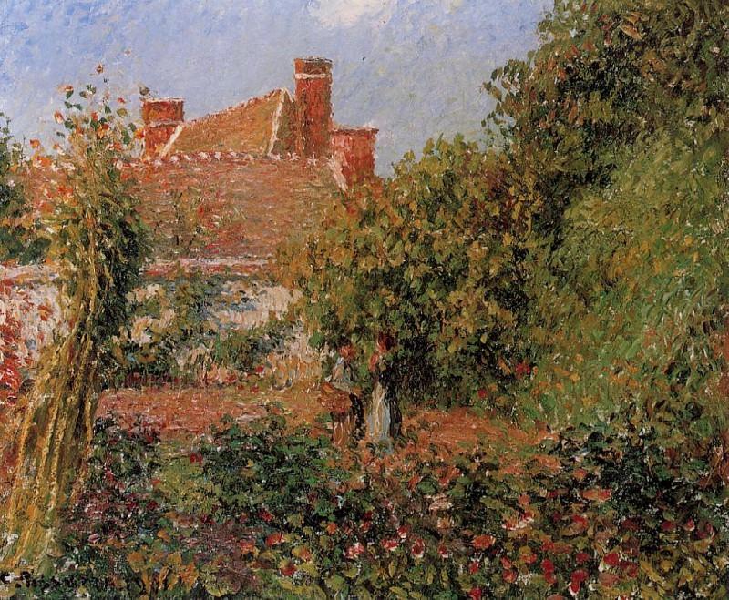 Kitchen Garden in Eragny, Afternoon. (1901). Camille Pissarro