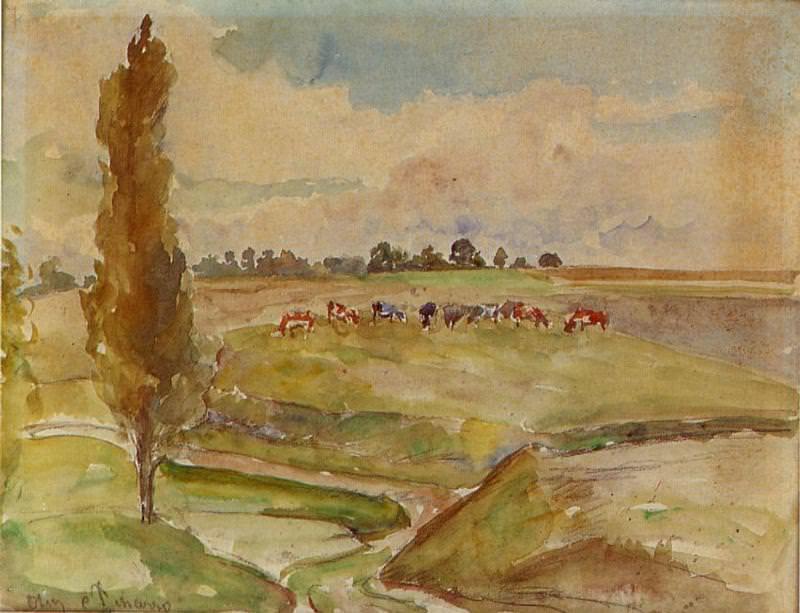 Пейзаж у Осни (1882-83). Камиль Писсарро