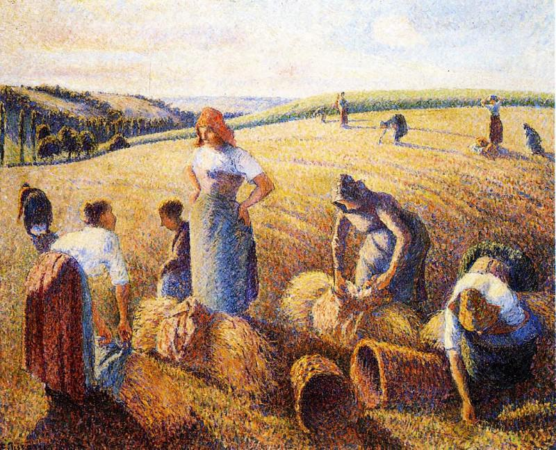 The Gleaners. (1889). Camille Pissarro