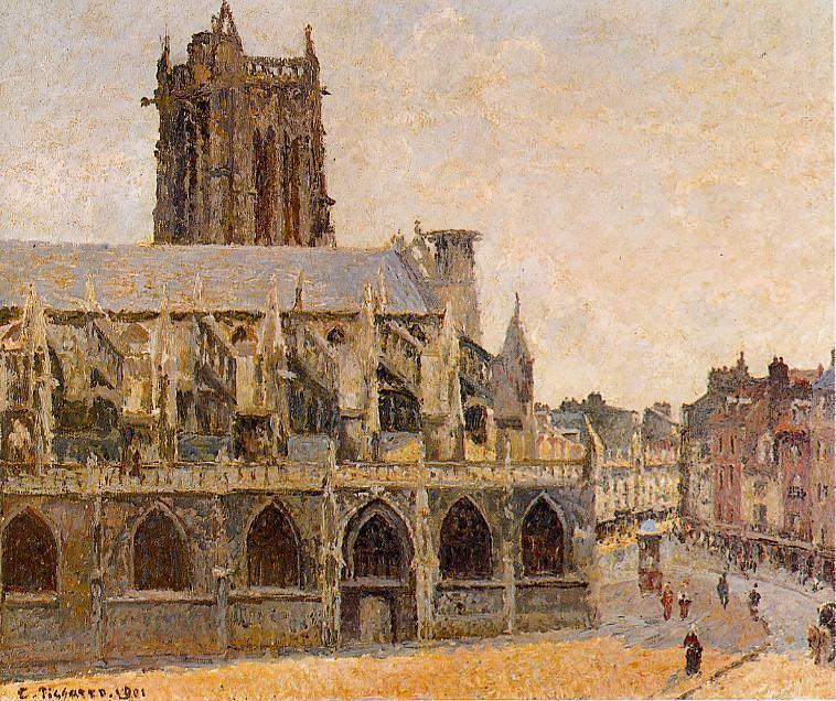 The Church of Saint-Jacques, Dieppe. (1901). Camille Pissarro