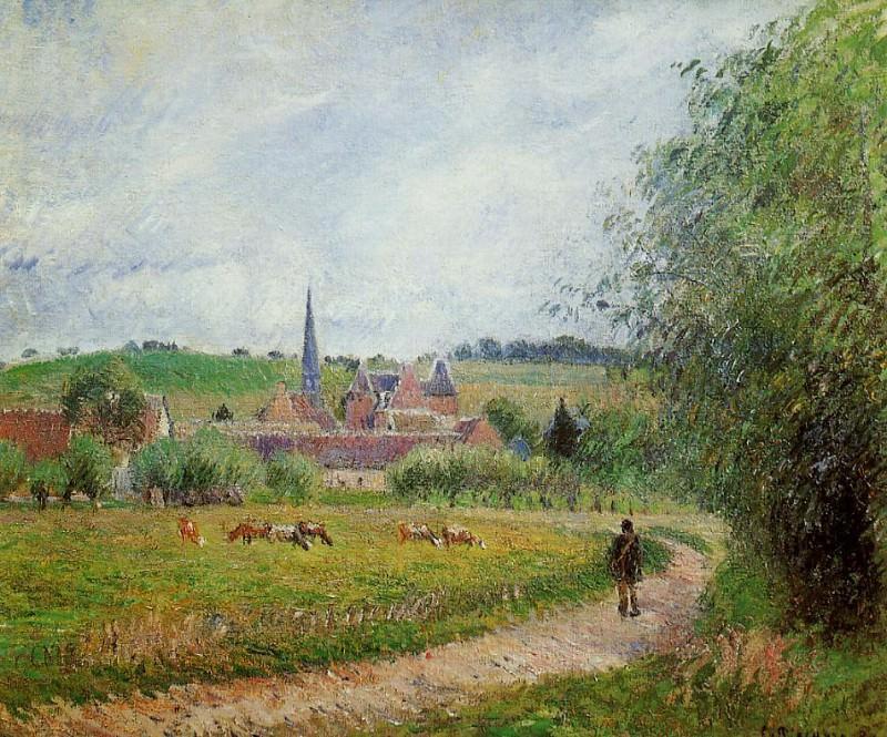 View of Eragny. (1884). Camille Pissarro