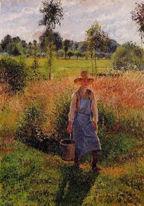 Садовница, послеполуденное солнце, Эраньи (1899). Камиль Писсарро