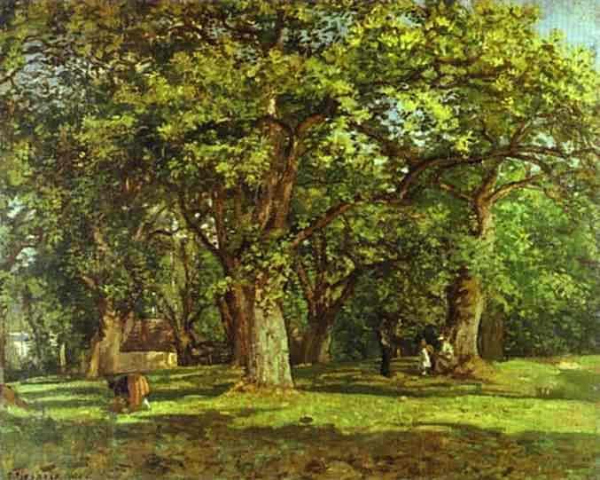 Лес... (1870). Камиль Писсарро