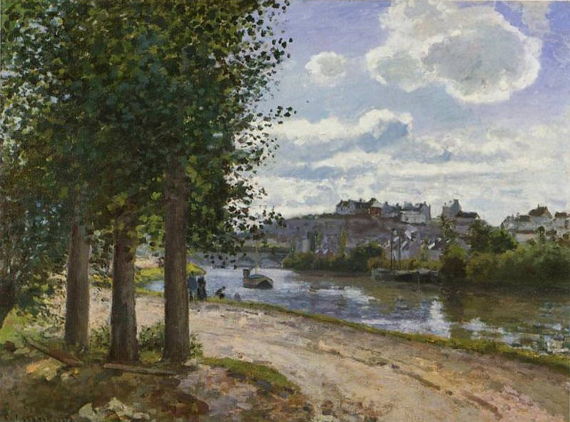 Banks of the Oise. (1872). Camille Pissarro