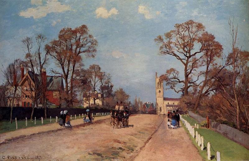 Авеню в Сайденхэме (1871). Камиль Писсарро