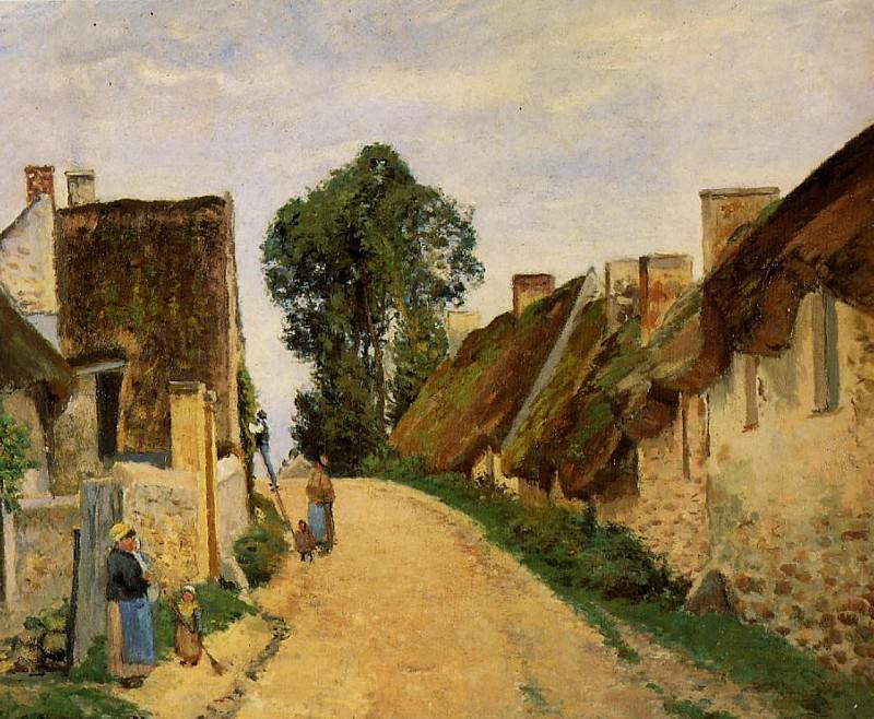 Village Street, Auvers-sur-Oise. (1873). Camille Pissarro